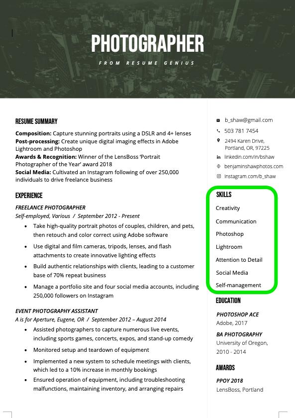 Resume Skills Section Resume skills section, Resume