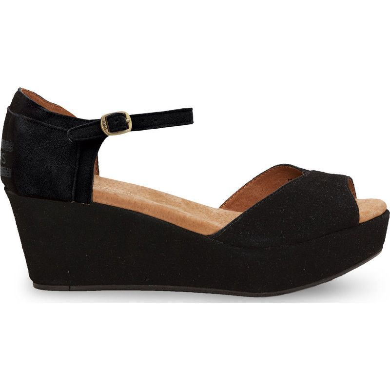 9ef671f50265 I picked up these TOMs black suede wedge sandals. Would love a few summery  options to wear with them. Toms Women s Suede Platform Wedge
