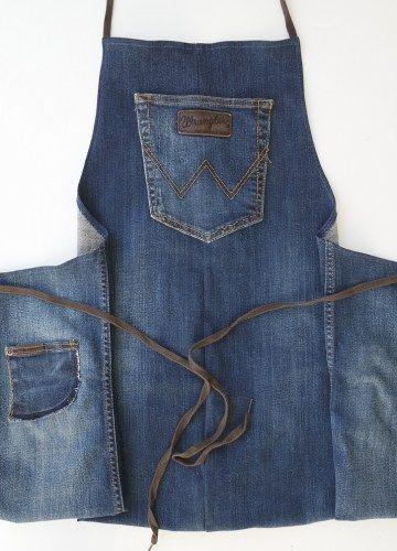 Mon tablier en jean recyclé - Un tresor dans mon placard - Concept dédié à la mode éthique