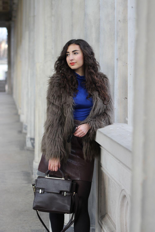 Faux Fur Jacket and Skirt Kunstpelz jacke, Outfit und Jacken