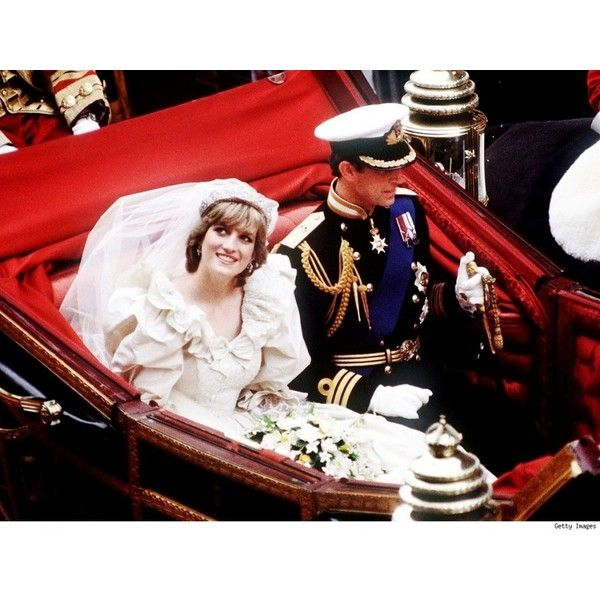 Princess Diana Wedding Dress ❤ liked on Polyvore featuring dresses and wedding dresses