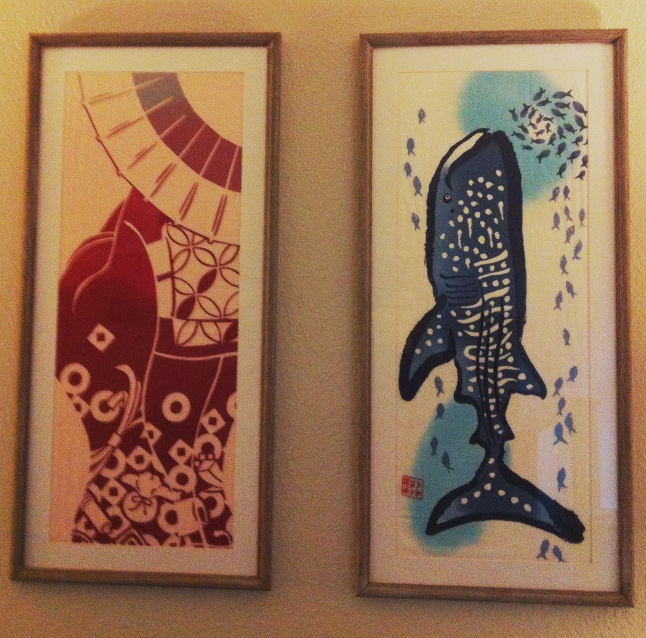 Travel Towel Japan: Framed Tenugui From Trip To Japan