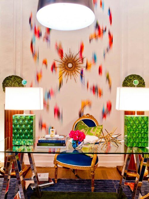 Holiday House Suzanne Eason Interior Design Office Workspace Color