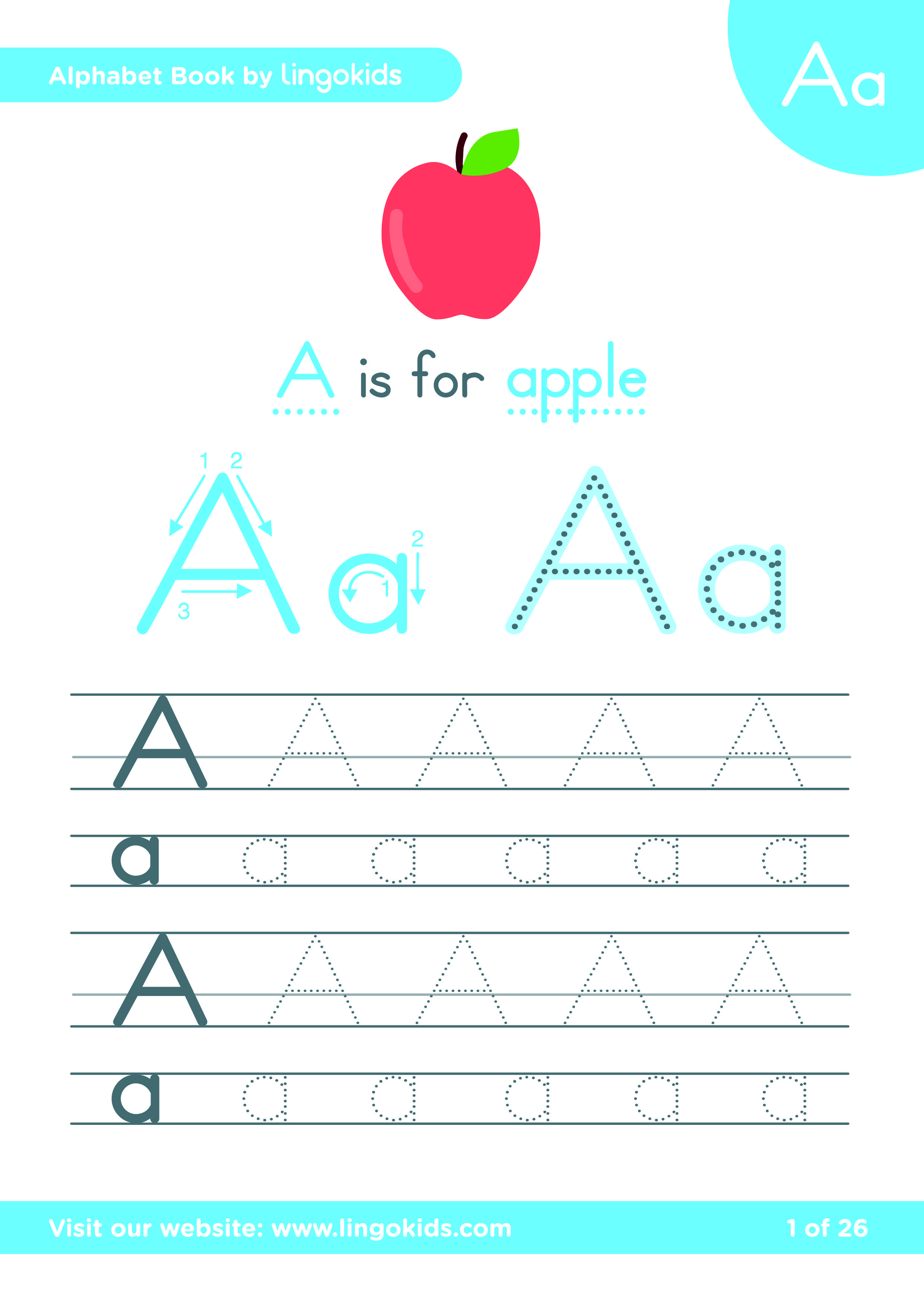 Alphabet In English With Audio Letter Writing For Kids Letters For Kids Spelling For Kids [ 3509 x 2481 Pixel ]
