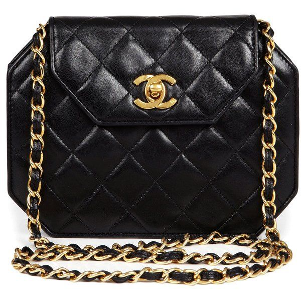 CHANEL Vintage Small Quilted Octagonal Shoulder Bag  dac56826dc97c