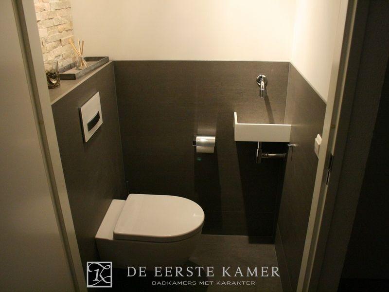 De eerste kamer toilet innovatie in deze toiletruimte is een design hoekfonteintje geplaatst - Scheiden een kamer door een gordijn ...