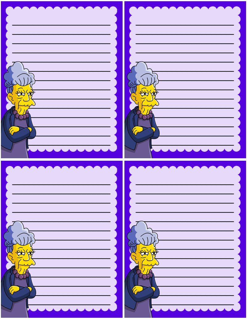 The Simpsons Agnes Skinner Mini Notes Free To Use And Free To Share For