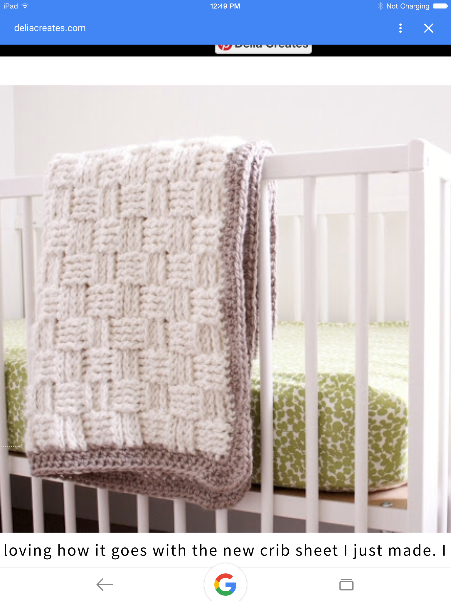 BERNAT BABY BLANKET PIC - directions are next to it !   Crochet ...