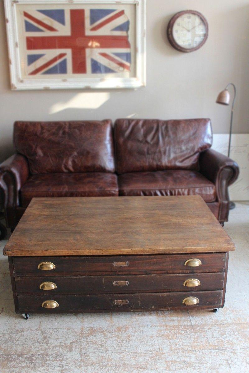 Rcuprer le vieux meuble d'architecte   Rcupration de ...