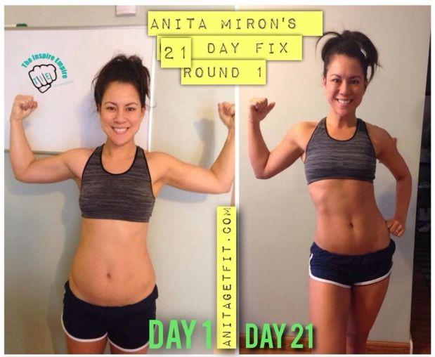 MY FINAL 21 DAY FIX ROUND ONE RESULTS!!! #21DAYFIX follow me  anitagetfit.com or fb.com/anitagetfitlikewoa