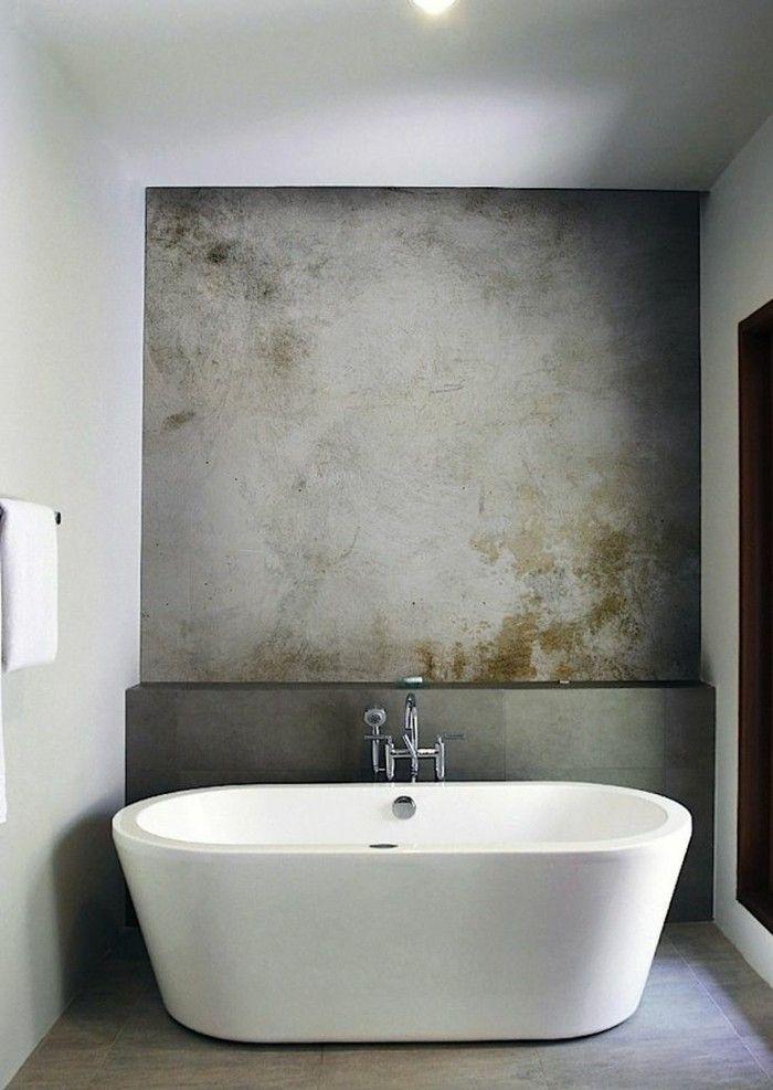 La baignoire ovale les meilleurs id es pour votre salle for Calcaire sur carrelage noir