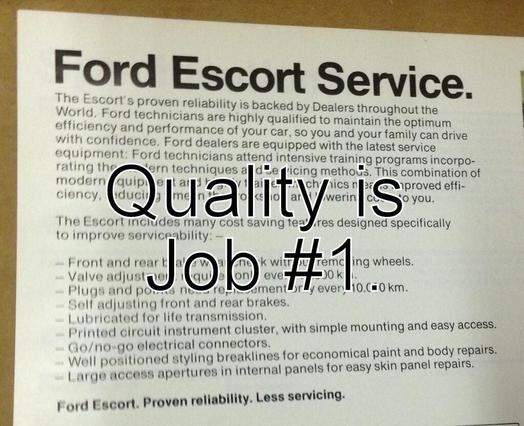 Pity, Ford escort service