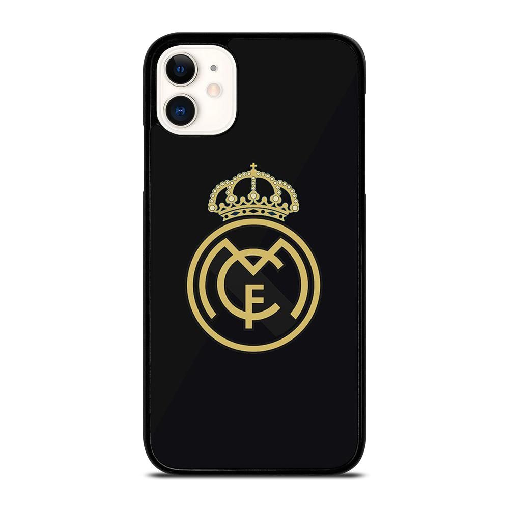 Real Madrid Cf Logo Black Iphone 11 Case Cover Casesummer Real Madrid Logo Black Iphone 7 Iphone 11 Pro Case