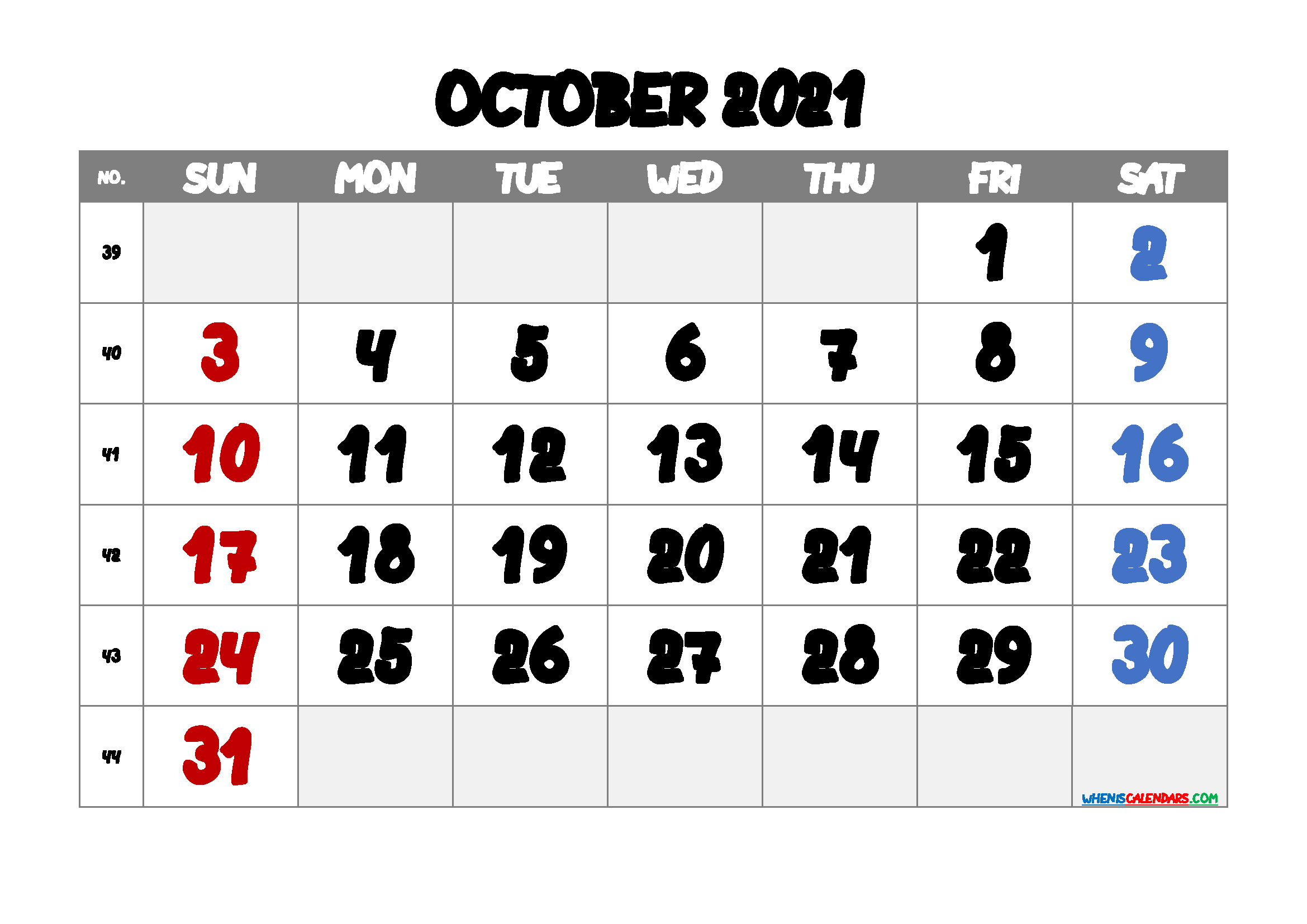 Printable October 2021 Calendar Free Template M21anotherround2 In 2020 Calendar Printables Free Printable Calendar Calendar With Week Numbers