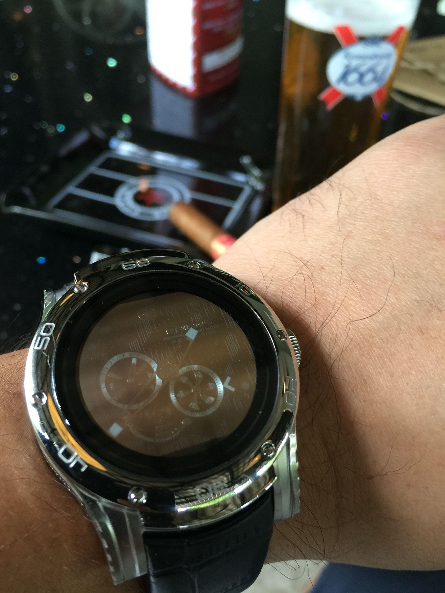 Hybrid mechanical smart watch