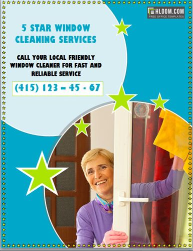 Windows Cleaning Services Flyer Template  Marketing Flyers