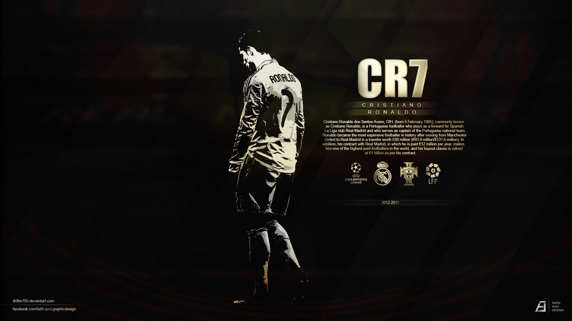 Cristiano ronaldo 7 black hd football pinterest cristiano cristiano ronaldo 7 black hd voltagebd Image collections