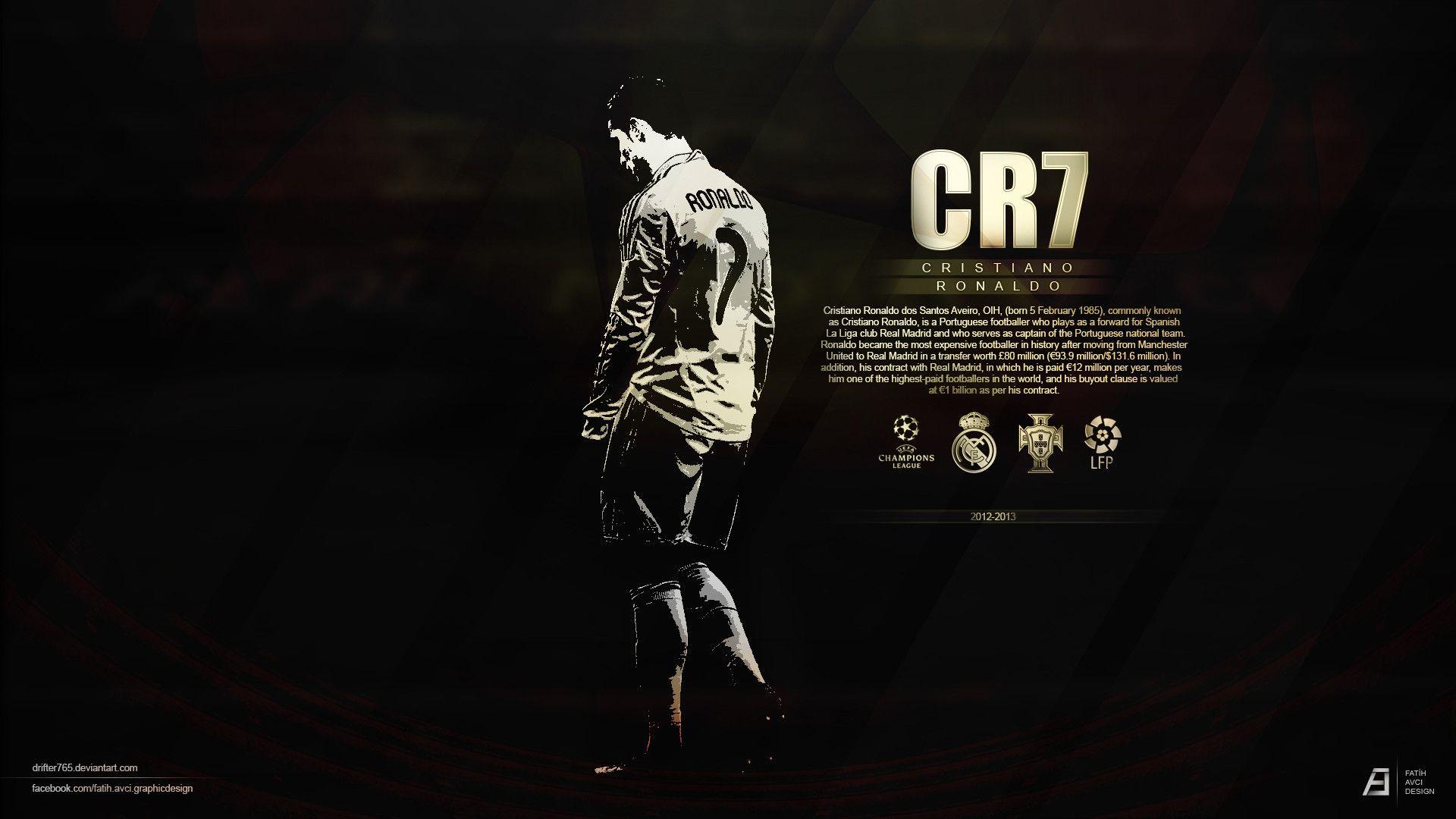 Cristiano Ronaldo 7 Black HD | Ronaldo wallpapers, Real ...