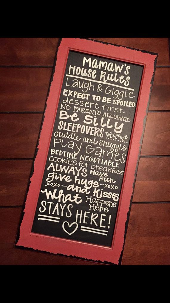 Personalized Grandparent House Rules/ by CourtneyRCreations