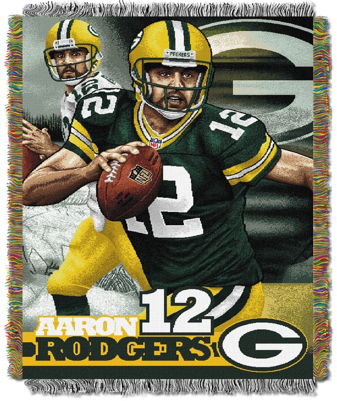 Aaron Rodgers Green Bay Packers Nfl Players Woven Tapestry Throw Green Bay Packers Players Rodgers Green Bay Rodgers Packers