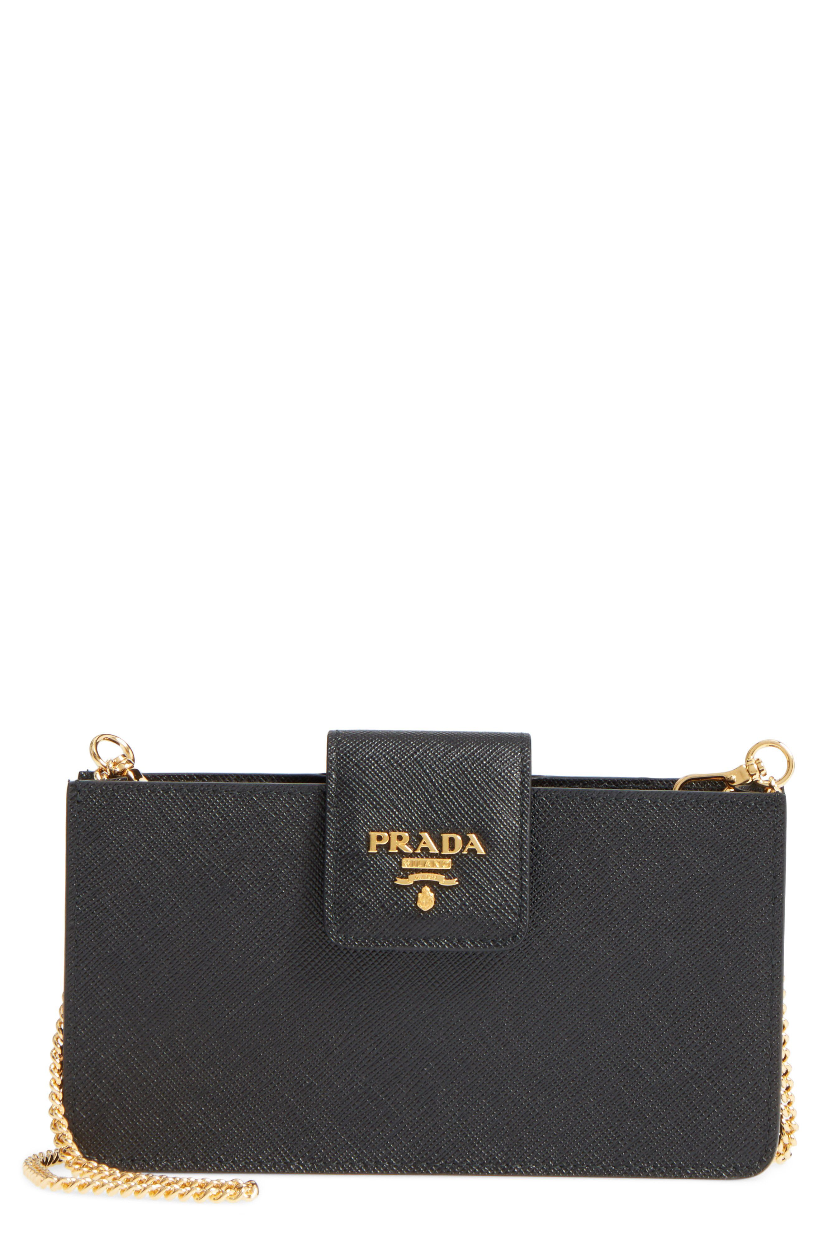 c3529fcf6d45 Prada Saffiano Leather Phone Wallet on a Chain available at #Nordstrom