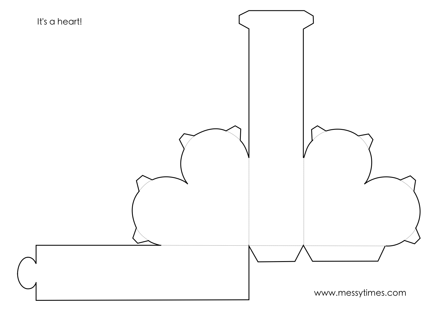 A 3d Heart Object To Cut Design Fold And Glue Together Geometry Printable Kids Activity