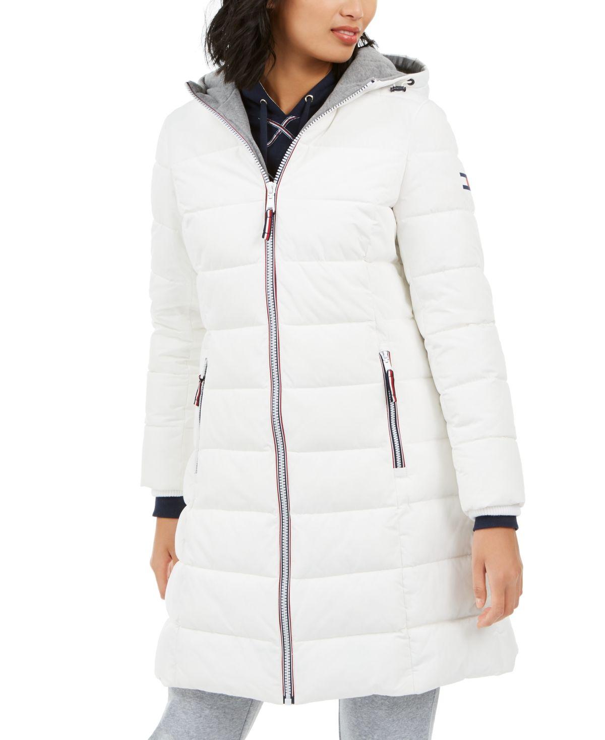 Tommy Hilfiger Hooded Puffer Coat White Puffer Coat Coats For Women Cheetah Print Coat [ 1466 x 1200 Pixel ]