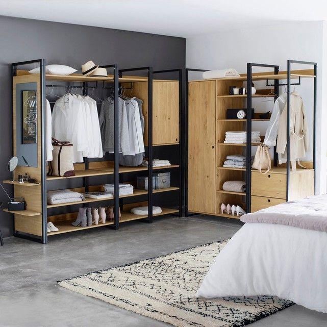 Module dressing 3 étagères 1 penderie HIBA   Armario, Diseño de ...