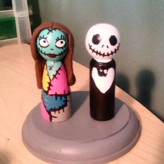 Jack and Sally Cake TopperNightmare Before Christmas Cake Topper