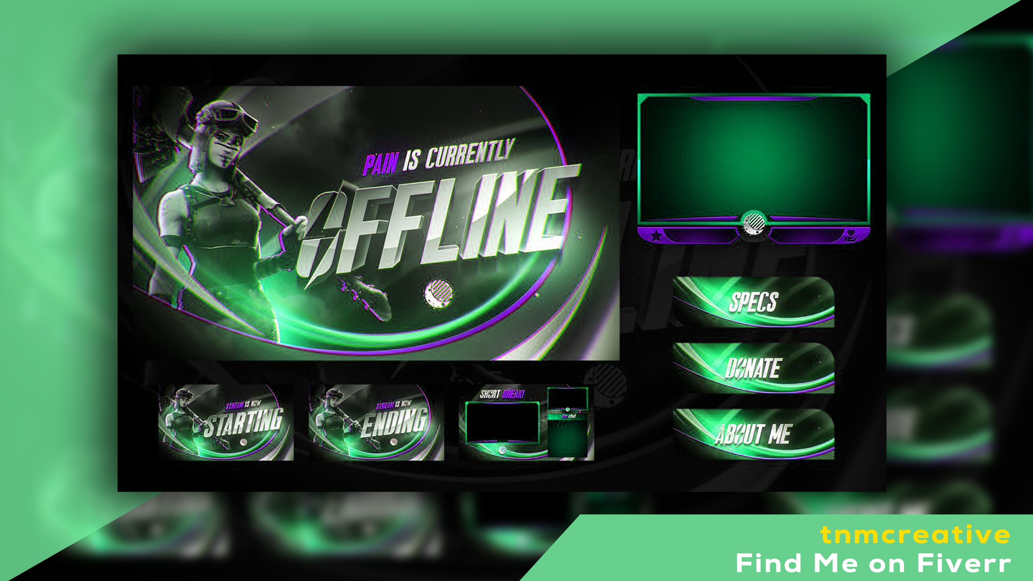 Create Twitch overlays, Logos, Banners, for your live
