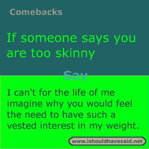 You re fat comebacks