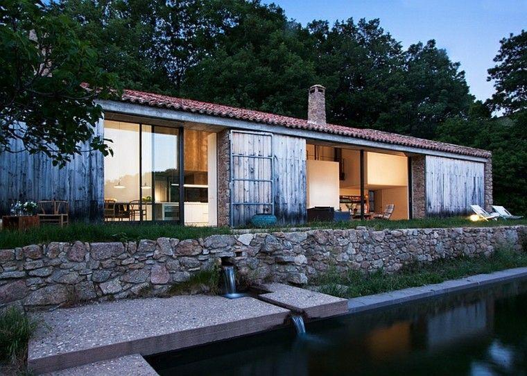 Resultado de imagen para fachadas de casas rusticas para terrenos ...