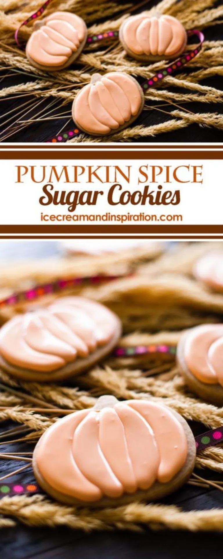 Pumpkin Spice Sugar Cookies - Beautiful Life and Home #pumpkinsugarcookies