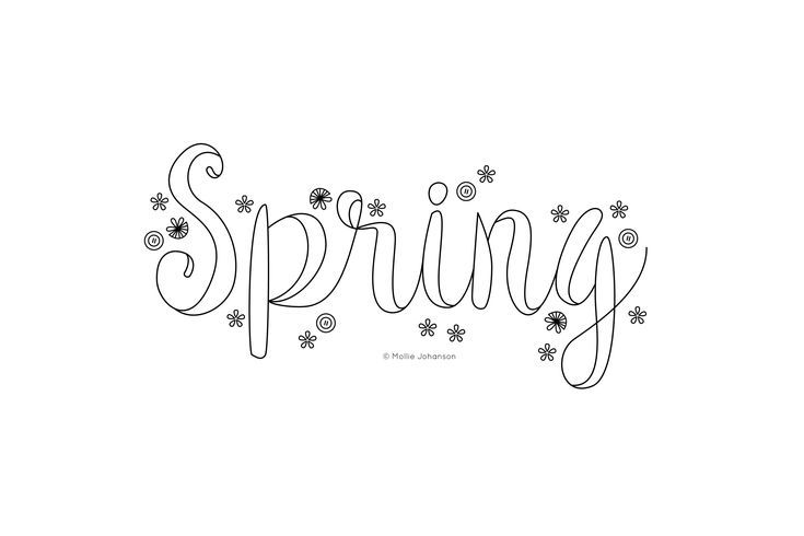 Spring Embroidery Word Art