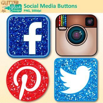 Facebook 300dpi. Social media button clip
