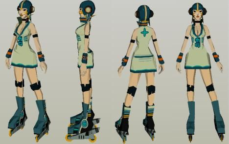 GUM - Jet Set Radio Future Paper Doll - by JP Papercraft --          More one great work by Spanish designer JP Papercraft: GUM - Jet Set Radio Future Paper Doll videogame character.
