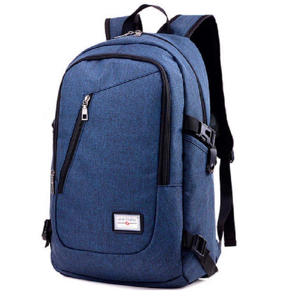 Mochila Grande Con Carga Usb Para Celular Notebook Azul Mochila Para Portátil Bolsas De Ordenador Bolso Para Computadora Portátil