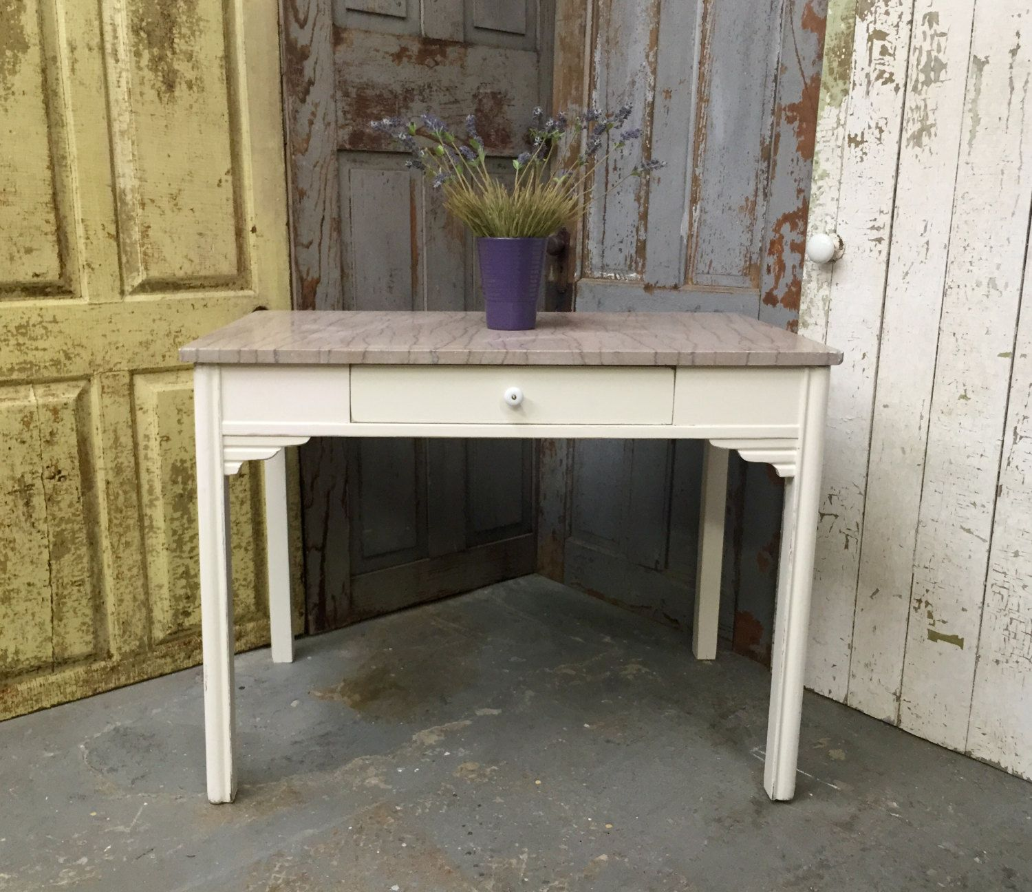 Antique Marble Top Table Baker S