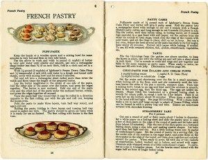 French pastry recipe, baked goods clipart, vintage baking clip art, dessert food printable, party food illustration