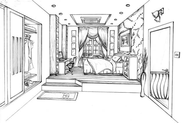 One Point Perspective Drawing The Ultimate Guide Perspective Drawing Room Perspective Drawing 1 Point Perspective