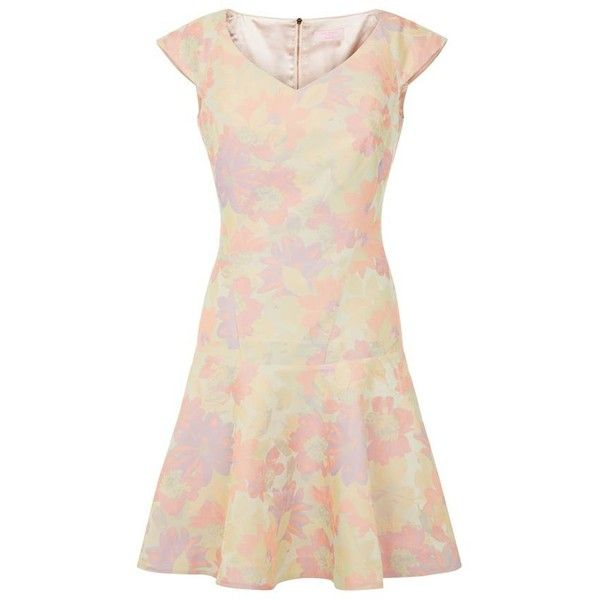 Ted Baker Floral Flippy Jacquard Dress - Polyvore  Love the pastel colors.