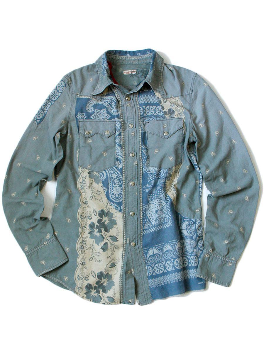 Itm 6zf2am 1 Jpg 900 1200 Kapital Denim Western Denim Shirt Denim Jacket Men [ 1200 x 900 Pixel ]