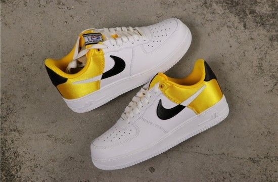 Nike Air Force 1 Low Nba Amarillo Golden Yellow Satin Bq4420 700 Nike Air Shoes Nike Air Force Nike Shoes Air Force