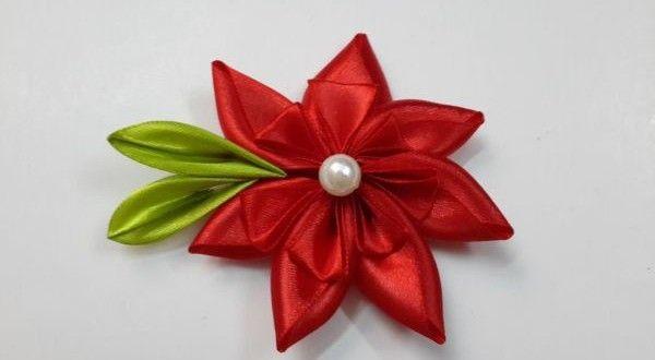 6 Modelos de Flores de Fita de Cetim com Passo a Passo
