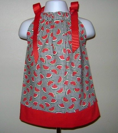 Watermelon Pillowcase Dress 3 6 9 12 18 month 2T by SewInFashion $18.00 : pillowcase dress pattern 6-9 months  - pillowsntoast.com