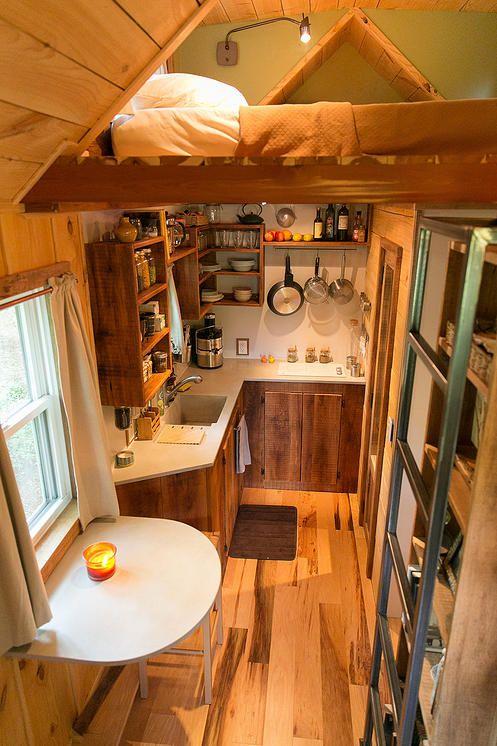 travis and brittany s 204 sq ft tiny house pinterest gartenh user zuhause und einrichtung. Black Bedroom Furniture Sets. Home Design Ideas
