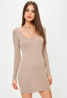 Lyst - Forever 21 Lace Mock Neck Bodycon Dress in Black