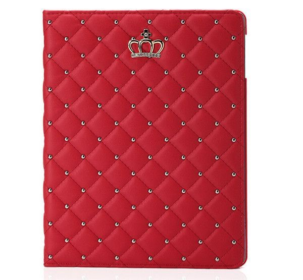 freeshipping new hot sell fashion girl crown pu leather case coverfreeshipping new hot sell fashion girl crown pu leather case cover flip stand case for ipad 2 for apple ipad 4 ipad3 wholesale