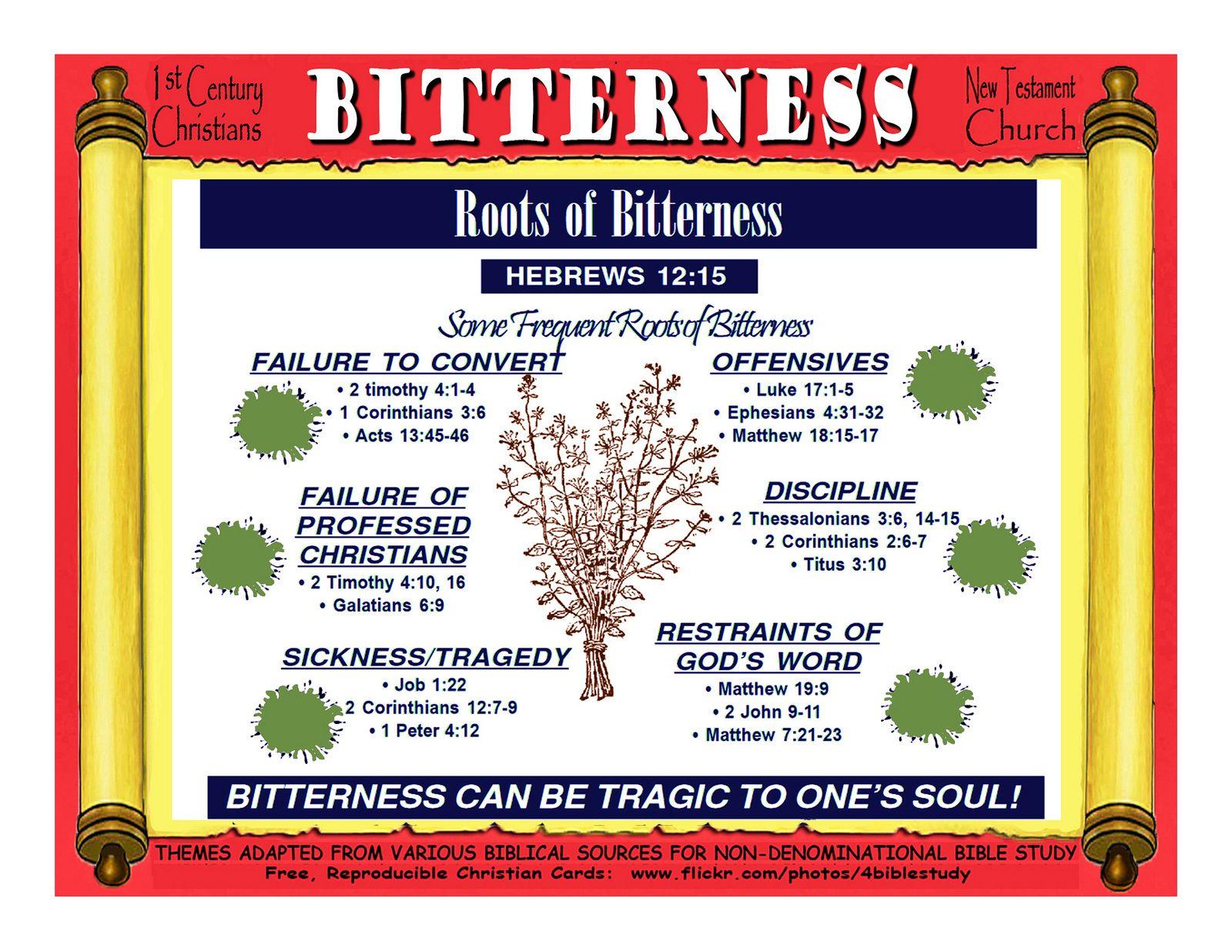 Bitterness 1st Century Christians New Testament Church