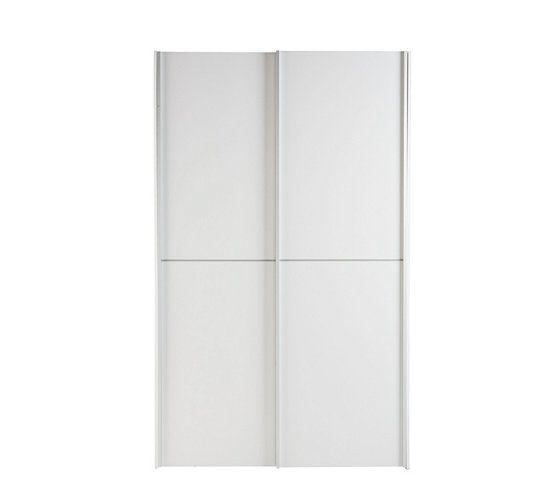 Armoire 2 portes coulissantes BEST LAK L. 120 cm blanc